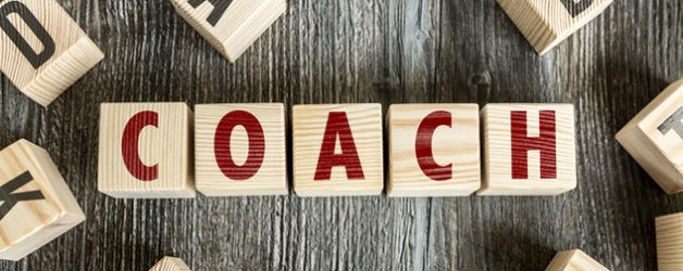 Wooden Blocks with the text: Coach